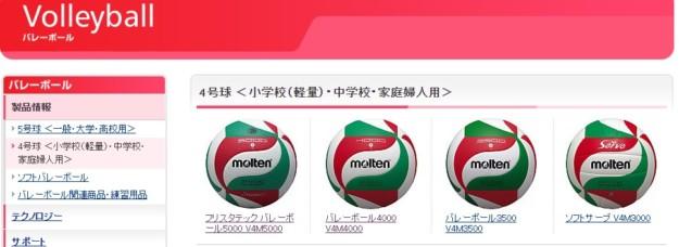 自宅で練習するバレーボールは試合球をおすすめしております。