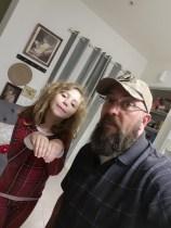 His beautiful 6 year old daughter Eva and myself.