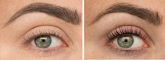 lash curler before and after. before (no eye makeup, no curler used) and after lash lift tint curler) u
