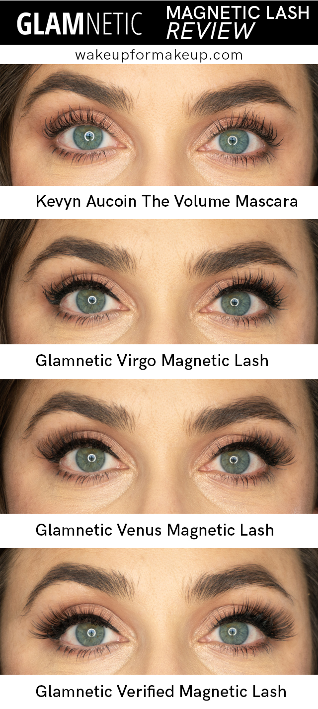 3 different glamnetic magnetic lash styles on