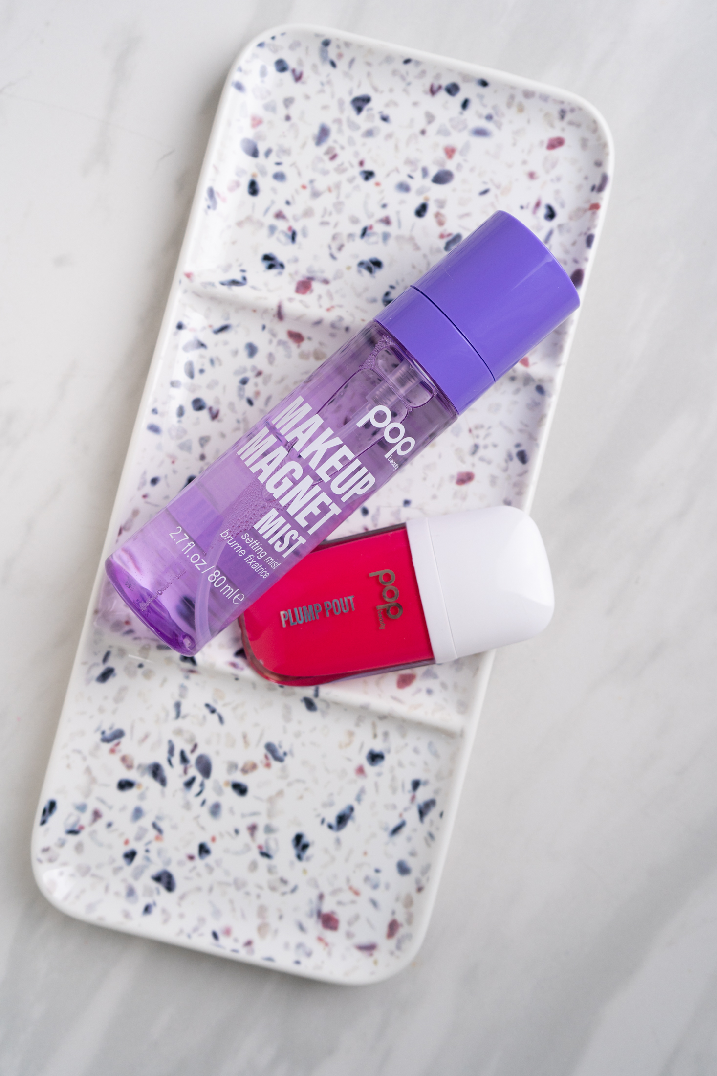 pop beauty makeup magnet mist setting spray and plump pout gloss