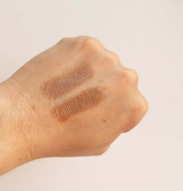 abh fawn compared to makeup by mario light medium sculpt stick
