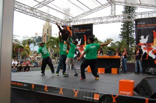 groupe de danseurs hiphop à maurice