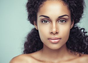 Permanent makeup colors for ethnic skin tones:  African American Woman