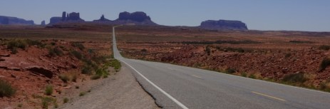 Road by Monument Valley