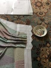 Pinning pleats