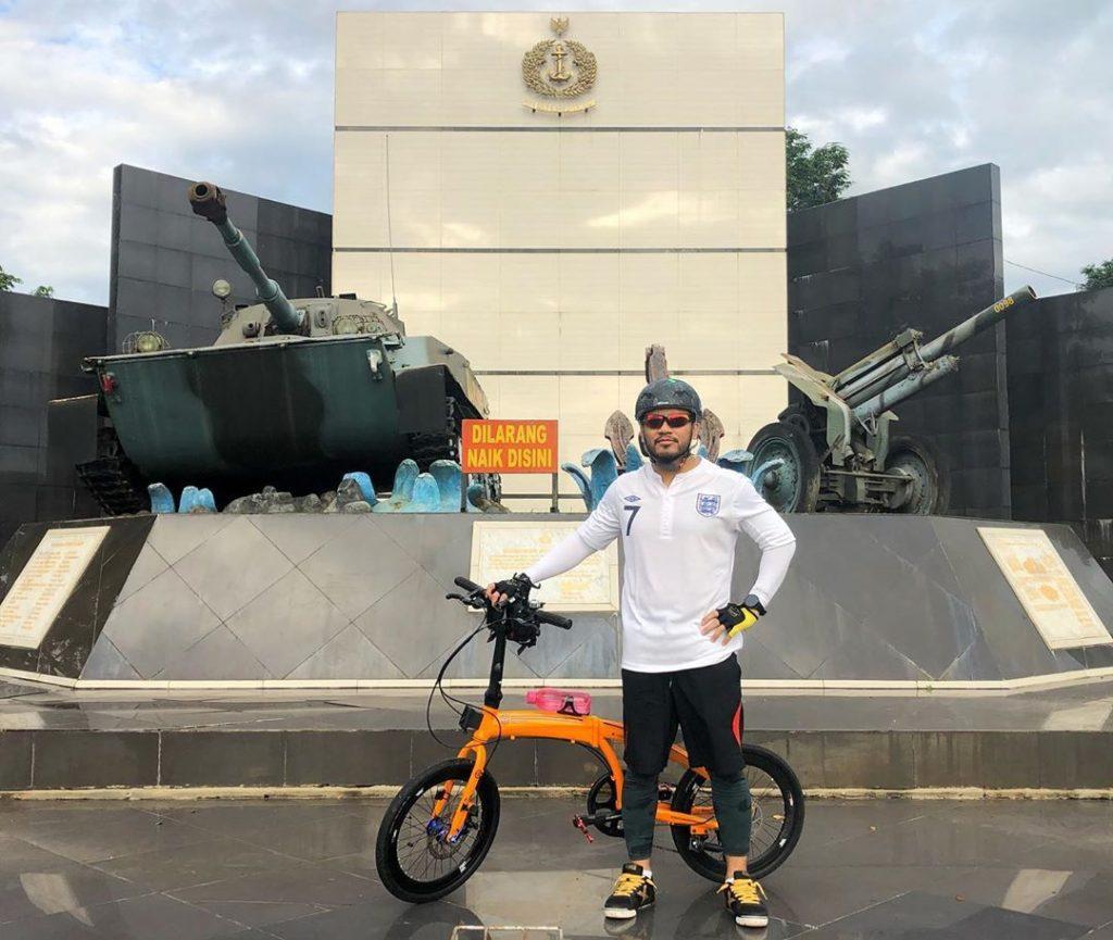 sepeda lipat warna orange