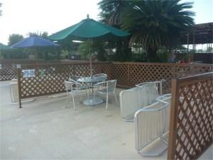 豊島園プールの有料席、プールサイドシート