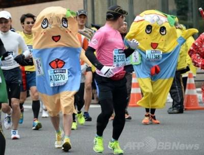 ふなっしーが東京マラソンで走ります
