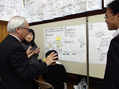 市長:グラフィックは中国から来た方にも好評だったんだよ