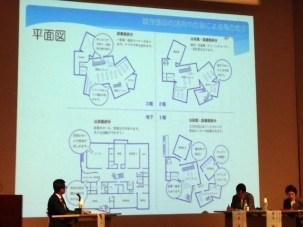 1階はバラバラなのに3階では繋がっている不思議な建物