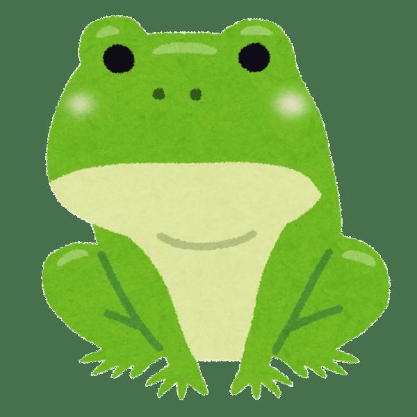 シンプルなカエルのイラスト