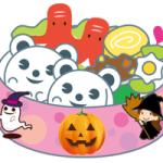 ハロウィンの可愛いお弁当のイラスト