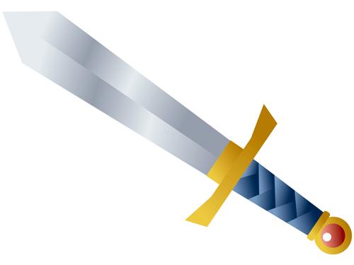 ドラクエに出てきそうな剣のイラスト