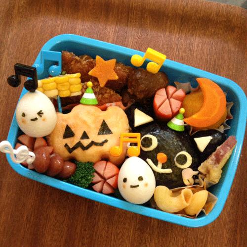 ハロウィンの可愛いお弁当の画像