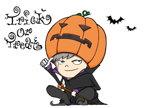 ハロウィンのイラストかっこいいかぼちゃ
