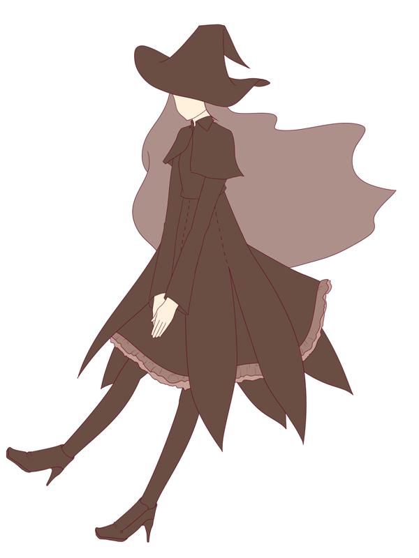 ハロウィンの魔女のイラスト