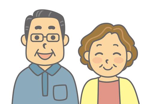 両親のイラスト