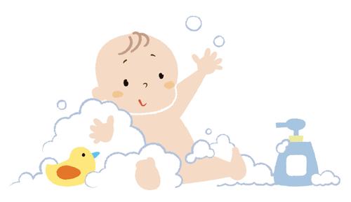 赤ちゃんの入浴イラスト