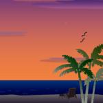 無人島のイラスト