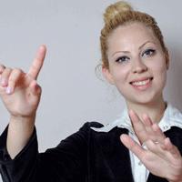 外国人講師の女性