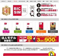 格安SIM総合ランキングBICSIM