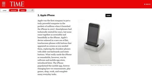 「史上最も影響力のあるガジェット50」第1位はiPhone!