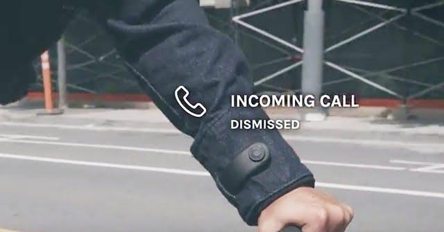 リーバイススマートジャケット電話受信