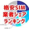 格安SIM契約者数別シェアランキング 2016年1~3月期(MM総研調べ)