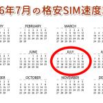 格安SIM速度比較2016年7月(日経トレンディ調べ)