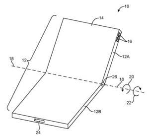 iphone8「フレキシブルディスプレー端末」特許のイメージ画像