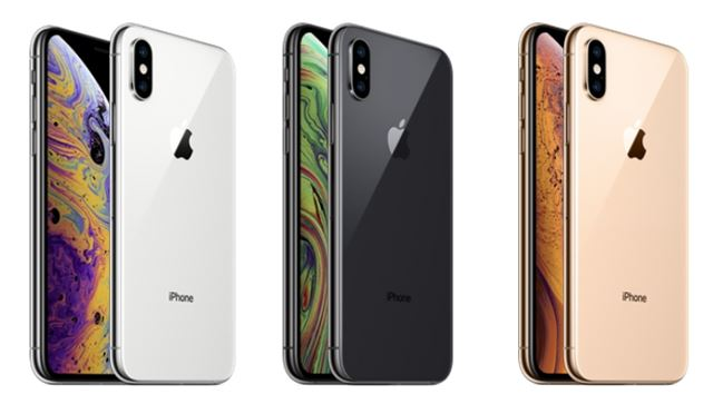 iPhoneXs本体カラー3色