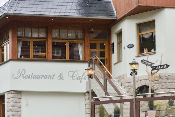 ザクセンスイスのカフェ