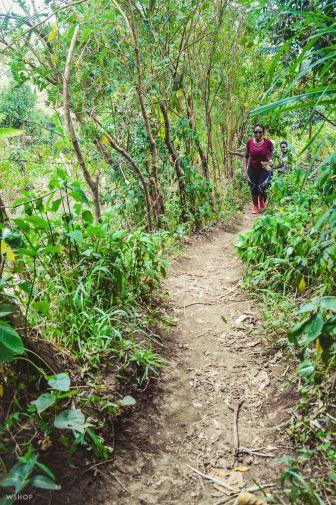 Sipi falls hike trail