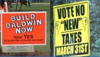 Tax vote looms with citizens divided - CBS46 News