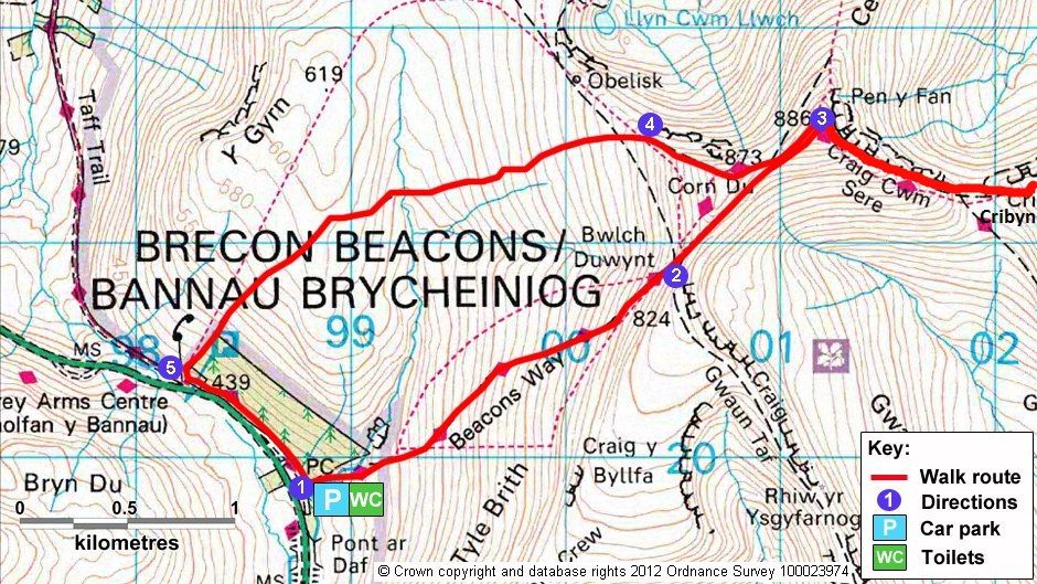 WALIA – Brecon Beacons – Pen y Fan 886 m n.p.m.