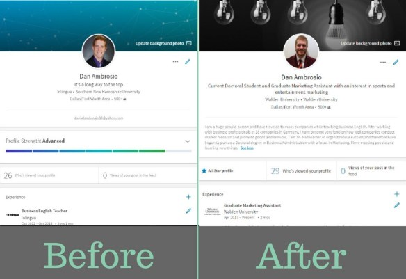 LinkedIn Before and After