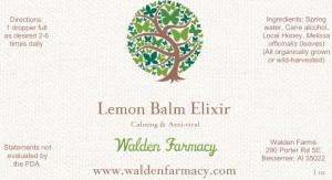 Lemon Balm Elixir