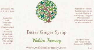 Bitter Ginger Syrup