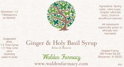 Holy Basil and Ginger Syrup
