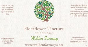 Elderflower Tincture