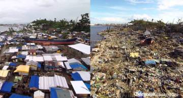 Side By Side Drone Footage 6 Months On From One Of The Strongest Typhoons Ever