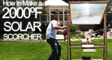 How to get 2000ºF Solar Power from an Old TV