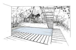 Walden Paysage Jardin Contemporain Maison