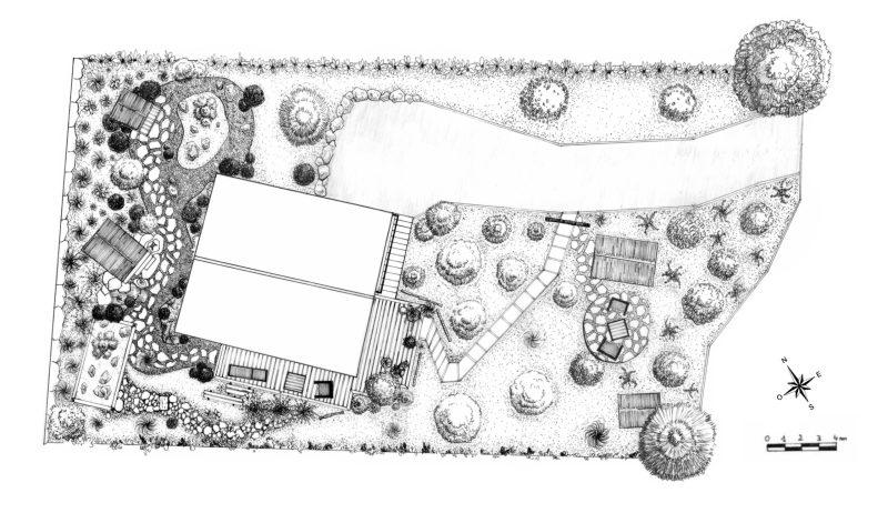Walden Paysage Jardin aux Cabanes