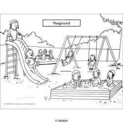 School Playground Playground Clipart Black And White