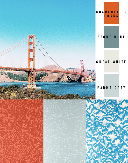 Golden Gate Bridge Farb Palette