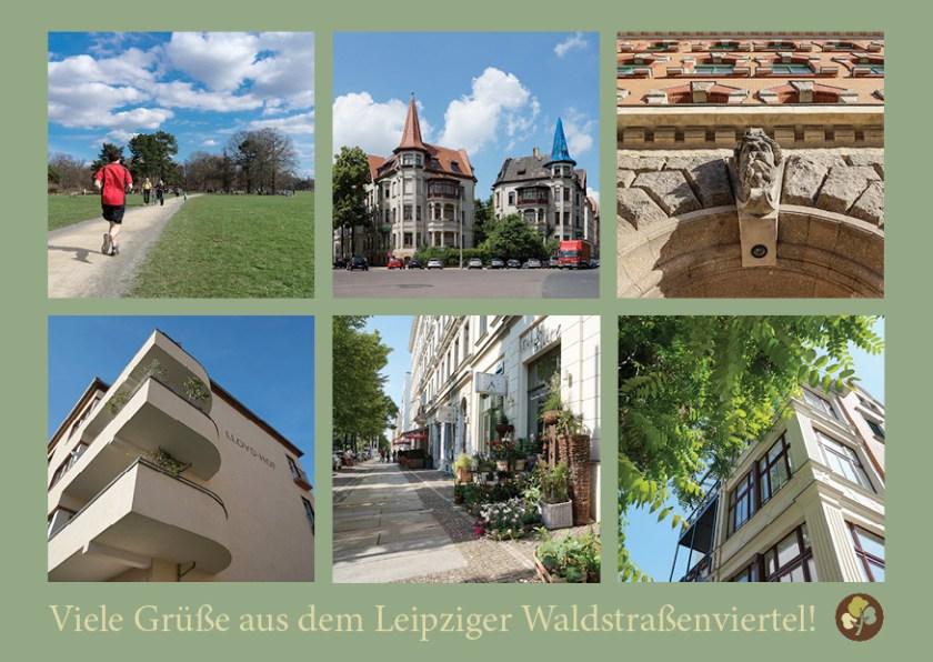 Waldstraßenviertel-Postkarte