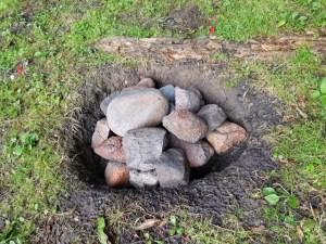 Steine für die Schwitzhütte
