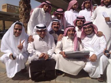 Taken in front of the district court at 24/11/2012 where a hearing session of Abdullah Al-Hamid & Mohammad al-Qahtani trial.